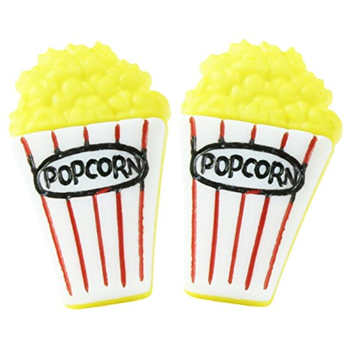 The Funky Barcode MOVIE NIGHT POPCORN STUD EARRINGS Gift Box Available