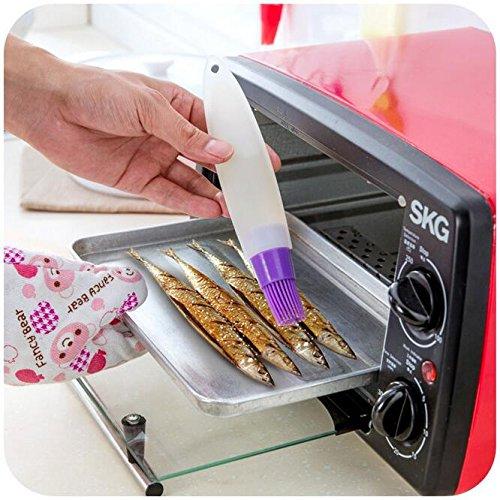 Buy Bargain LIVDAT 6 Pcs BBQ Pastry Desserts Baking Basting Oil Brush with Bottle Barbecue Utensil f...