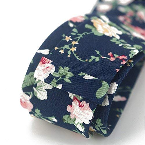 Mantieqingway Men's Cotton Printed Floral Neck Tie (MYF006-029)