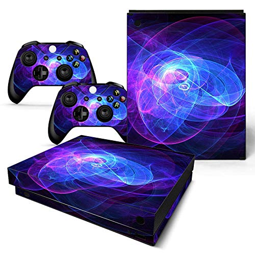 Mcbazel Pattern Series Skin Sticker for Xbox One X Console and Controller Aura