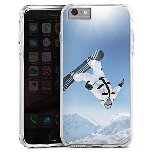 DeinDesign Apple iPhone 6s Plus Bumper Hülle Bumper Case Schutzhülle Snowboard Schnee Berg