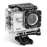 ELE CAM Original Sportkamera Actionkamera 16MP 4K Wasserdicht Full HD Klein Set Helm mit Zubehör...