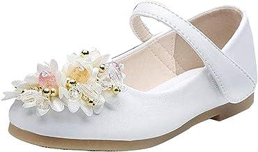 Zapatos Princesa De Niña Flor Chicas para Boda Cumpleaños Zapatos Comunion Niña Calzado De Vestir para Niña Verano Sandalias