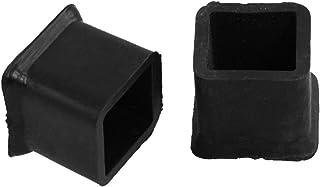 sourcing map Pies de goma paragolpes patas almohadillas amortiguadoras de D12x10xH7mm Negro 12pcs
