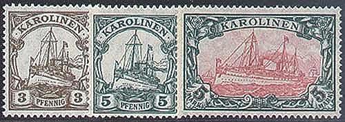 Goldhahn Karolinen Nr. 21, 22, A 21 - Briefmarken für Sammler