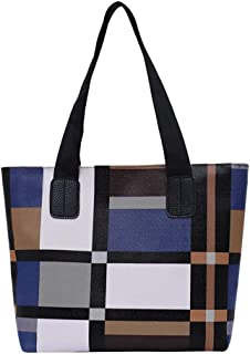 Ultramall Women Ladies Girls Fashion Patchwork Large Capacity Handbag Shoulder Tote Bags For Women