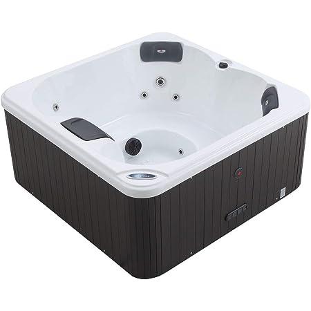 Outdoor 4 Personen Whirlpools Aussenwhirlpool Hot Tub Spa Au/ßenwhirlpool Baboa Steuerung Wanne SkyWhite, Au/ßenverkleidung Schwarz perfect-spa Whirlpool Los Angeles Indoor