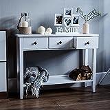 Vida Designs Windsor 3 Drawer Console Table With Shelf, White Wooden Hallway Living Room <span class='highlight'>Bedroom</span> Dressing Dresser Desk Furniture