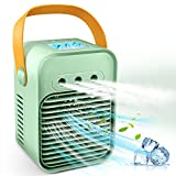 Bestooth Portable Air Conditioner, Evaporative Air Cooler Fan with 3 Wind Speeds and 3 Sprays, Camping AC Unit, Small Portable Air Conditioner for Small Room, Car