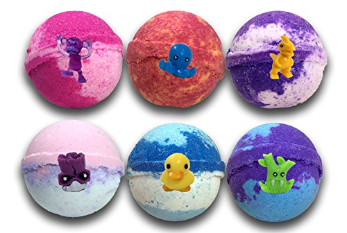Lotion Fast Bath Bombs (kids 6 pack gift set with surprise toys inside)