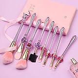 rongji jewelrySet de 8 brochas de maquillaje Sailor Moon con mango de plástico, juego de herramientas profesionales, incluye bolsa de cordón, color rosa, , ,  Púrpura-1,, ]