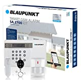 Blaupunkt Funk-Alarmanlage SA 2700 I Mit GSM-Modul I Sicherheitssystem mit Bewegungsmelder, Tür/Fenstersensor, Fernbedienung, App I Alarmierung über das Mobilfunknetz I Weiß