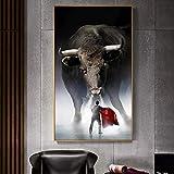 YuanMinglu Matador Affiche Impression Murale Art Toile Peinture Taurine Photo sans Cadre 50x90 cm pour Salon décoration de la Maison