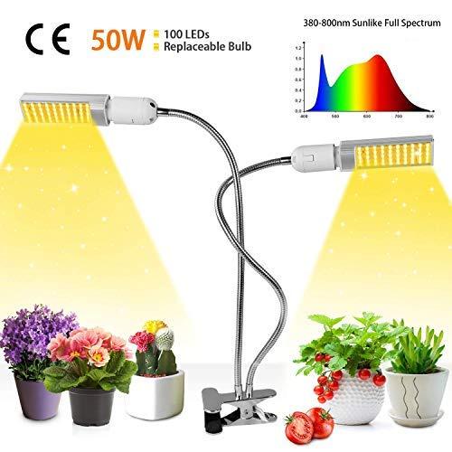 50W Lampada per Piante, Upgrade Grow Light Full...