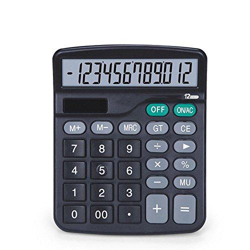 GJJ Taschenrechner 12-Bit-Solar-Elektronik Portable Calculator - Mathematische Berechnungen Accurate Artifacts,Wie Gezeigt,A