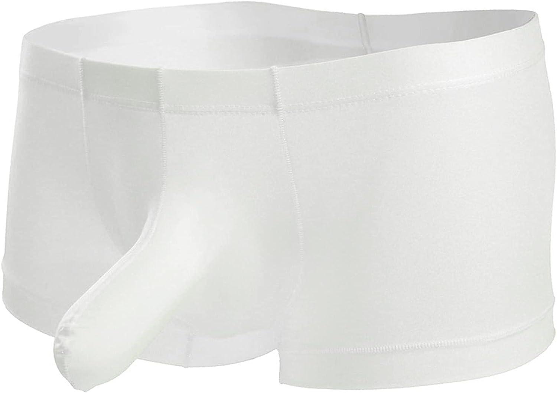 Men's Elephant Nose Boxer Briefs Ice Silk U-Shaped Low Rise G-String Underwear Sexy Bikini Pouch Soft Thong Jockstraps