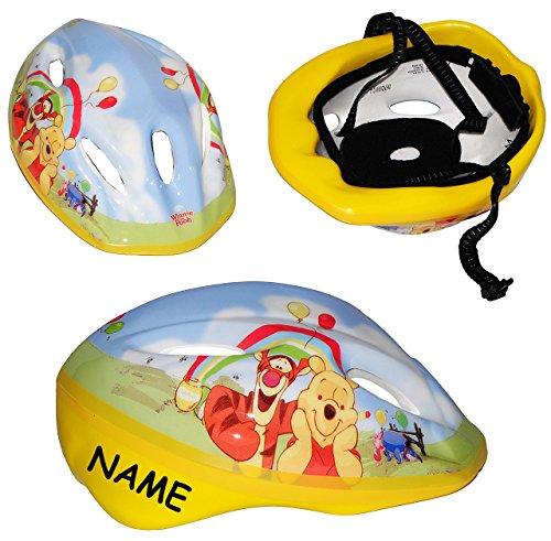 alles-meine.de GmbH Kinderhelm - Disney Winnie The Pooh - Gr. 52 - 56 - Circa 3 bis 15 Jahre - incl. Namen - Verstellbarer Helm - für Kinder Mädchen & Jungen / Fahrradhelm gr..