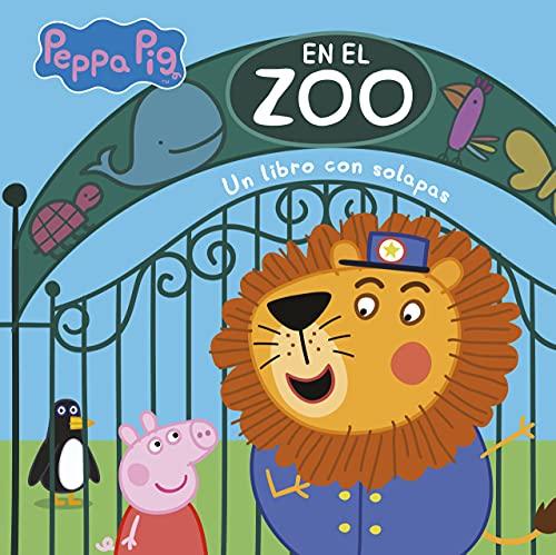 En el zoo (Peppa Pig. Pequeñas manitas): Libro con solapas
