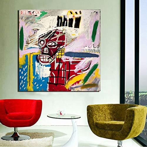 Nordisches Plakat Graffiti abstrakte Kunst Tapete Leinwand Malerei Wohnzimmer Hauptdekoration Moderne Ölgemälde,Rahmenlose Malerei,60x60cm