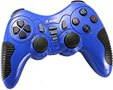 Wireless Controller Game Pad Joystick Gamepad Dual Vibration Double Controllers Turbo Clear and Auto Function with free CD for PS1 PS2 PS3 Consoles PC WIN98 ME 2000 XP VISTA WIN7 Computer Games (Blue)