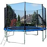 ASS Outdoor Gartentrampolin Sprungtrampolin Trampolin XL - 375cm 366cm 375 366 cm komplett inkl....