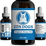 Zen Dogs - Organic Hemp Oil for Dogs & Cats + MCT Oil - Healthy Omega 3 & 6 Fatty Acids - All Natural Pet Care Treats Supplement for Skin & Coat - Anti-Anxiety - Anti-Inflammation - Digestive Support