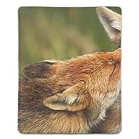 ゲーミング向け 大型マウスパッド デスクマット狐 防水材質 水で洗えるマウスパッド