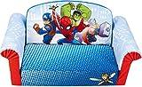 Marshmallow Furniture, Children's Upholstered 2 in 1 Flip Open Sofa, Marvel Spiderman, by Spin Master