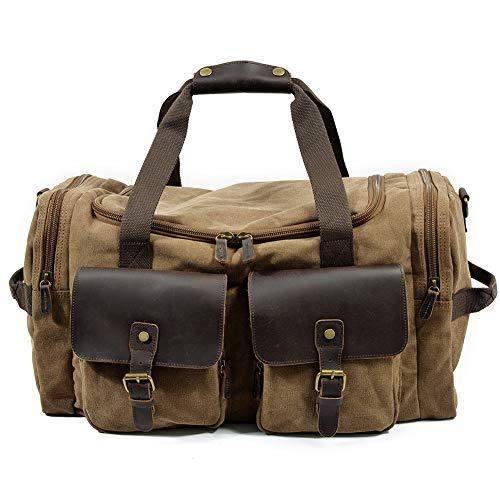 HHH Bolsa de Viaje Bolsa Deportiva de Alta Capacidad Bolsa Resistente al Desgaste Impermeable y Duradera Bolsa de Viaje de Negocios Unisex Travel Bag & Duffel Bag,Khaki