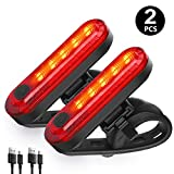 WQJifv Rear Bike Light Powerful LED USB Rechargeable, Bike Back Light Waterproof Bicycle Taillight...