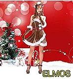 ELMOS クリスマス トナカイ コスプレ サンタクロース Xmas 着ぐるみ ゆったり フリーサイズ レディース 演出衣装 コスチューム 女性コスプレ衣装 トナカイコスプレ 文化祭 (トナカイⅠ)