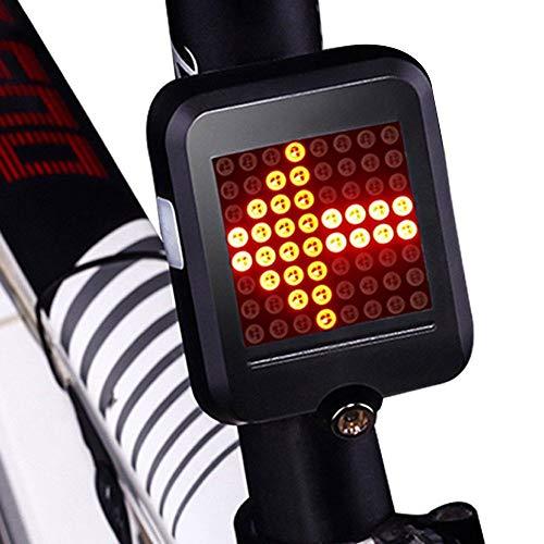Fahrrad Blinker Kabellos,Blinker Für Fahrrad,Intelligente Rücklichter Für Lenkbremsen, USB-Aufladung, Multifunktionales Warn-Design Für Fahrräder