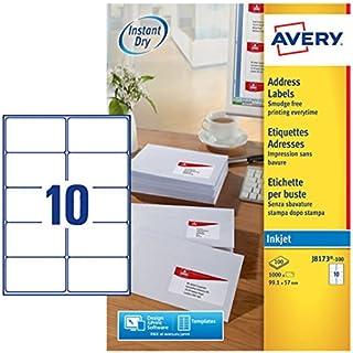 Avery Dennison - Etiquetas de dirección tamaño 9.1x57.0mm - Pack de 1000 uds.