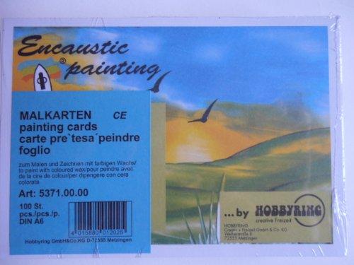 Hobbyring Encaustic Painting Malkarten DIN A6 100 St.