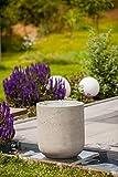 Heissner 016850-09 Gartenbrunnen Zylinder LED Grey