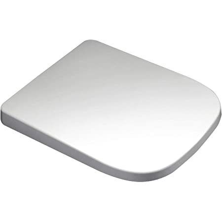1 Plan with Soft Close Toilet Lid Removable Stainless Steel Hinge Quick Release Function Dombach Lamera Square Toilet Seat White Suitable for Keramag Renova No
