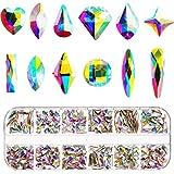 Nagelkristalle AB 240 Stücke Nagel Kunst Flache Rückseite Strasssteine Gemischt Nagel Diamond Stone für Nagel Kunst Kleidung Schuhe Taschen Kunsthandwerk