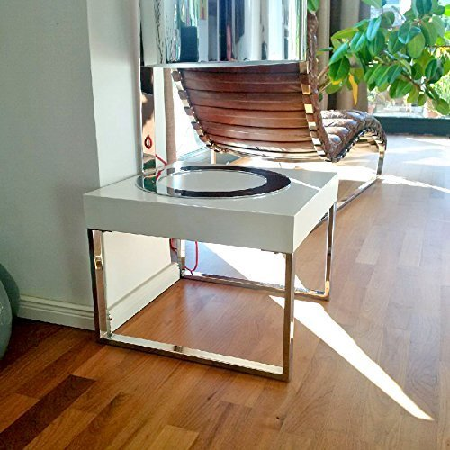 Unbekannt Tavolino da salotto Design [K1] bianco lucido, 50 x 50 cm, presenti nel tempo Bauhaus-Stil
