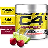 C4 Ripped Pre Workout Powder Cherry Limeade | Creatine Free + Sugar...