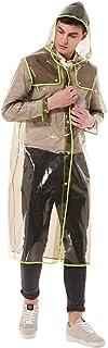 Raincoat Clear Raincoat Rain Gear Rain Coats for Men Ponchos Adult Clear Rain Poncho with Hood Rain Poncho Rain Coat (Colo...
