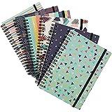 Cuadernos en espiral con rayas Paper Junkie College (paquete de 6), con diseños inspirados en la década de los '90