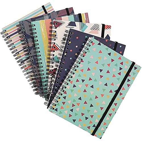 90's Inspired Spiral Notebooks for School, College Ruled (7 x