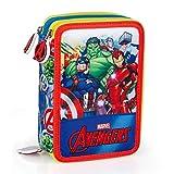 INACIO Astuccio Scuola The Avengers Marvel MULTISCOMPARTO 3 Zip PORTACOLORI PENNARELLI Giotto CM.20X13X6-60324