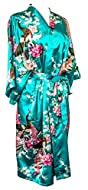 Kimono Peacock is LIGHTWEIGHT women's robe offers INDULGENT luxury at an affordable price. This Japanese style kimono suitable for many occasions. From valentine gift for woman, bridesmaid robe, hen party, wedding morning, bridal shower, spa day, bir...