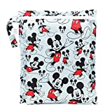 Bumkins Disney Baby Zippered Wet Bag, Mickey Mouse Classic by Bumkins