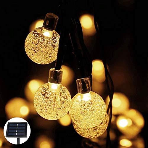 Catena Luminosa,Catene Luminose 50 pcs,7M/23FT Filo Lampadine Luminarie Lucine da Esterno Decorative di Luce Solare di Crystal Globe per Giardino Natale Terrazza Matrimonio Partito