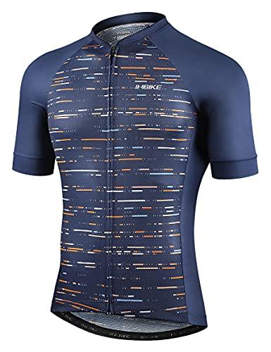 INBIKE Abbigliamento Ciclismo Uomo Maglietta MTB Enduro Maglia Bici Estivi T-Shirt Manica Corta Intima con Tasche Che L