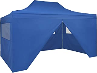 vidaXL Carpa Jardín Plegable Pop-up 4 Paredes Acero Tela