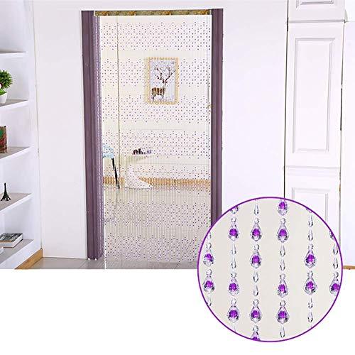 ZXL Kralen Gordijnen Kunststof voor Deur Wanddecoratie Room Divider Hangende Strings Slaapkamer Woonkamer Kast Deurpaneel (Kleur: C, Maat: 86 strengen-120cm x 180cm)