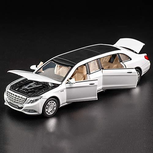 Xolye Sechsürige Legierungsauto-Modell 1:32 Erweiterte Version von Sound und Lichtspielzeug Auto Geburtstagsgeschenk Metall Anti-Herbst Zurück Kraft Vorwärts Junge, der mit Kinderwagen spielt